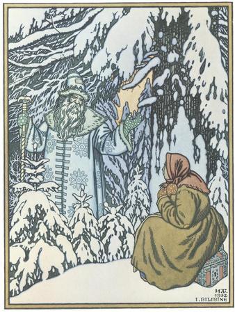 Illustration for the Fairy Tale Morozko, 1932
