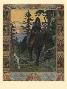 Illustration for the Fairy Tale of Vasilisa the Beautiful and White Horseman, 1900 by Ivan Yakovlevich Bilibin