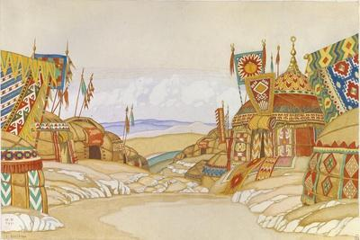 The Polovtsian Camp. Stage Design for the Opera Prince Igor by A. Borodin, 1930