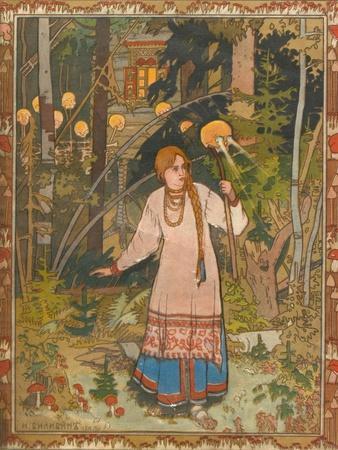 Vasilisa the Beautiful (Illustration to the Book Vasilisa the Beautifu), 1900