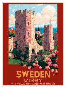 Visby, Sweden - The Town of Ruins and Roses - City Wall by Ivar Gull