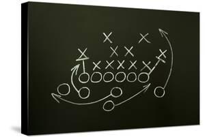 Game Strategy Drawn On Blackboard by Ivelin Radkov