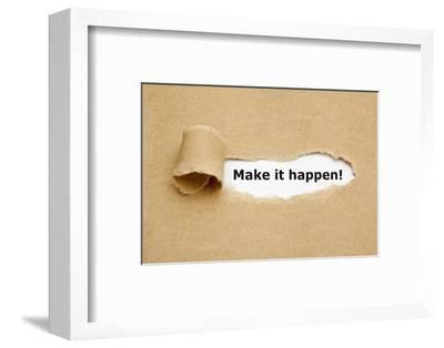 Make it Happen Torn Paper