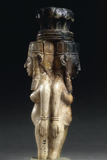 Ivory Caryatids Supporting a Palm Shaped Capital from Nimrud, Iraq--Giclee Print