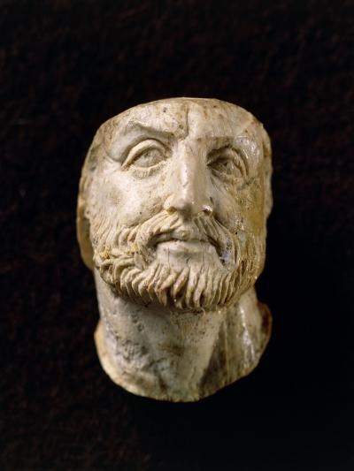 Ivory Head of Philip II of Macedonia, from Tomb of Vergina, Greece--Giclee Print