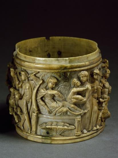 Ivory Pyx, Depicting Life of Bacchus--Giclee Print