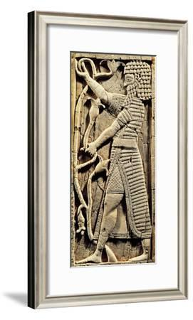 Ivory Relief Depicting a Warrior, Artefact from Nimrud, Iraq--Framed Giclee Print