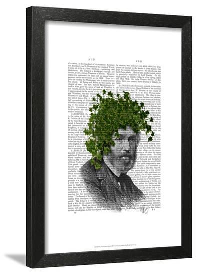 Ivy Head Plant Head-Fab Funky-Framed Art Print