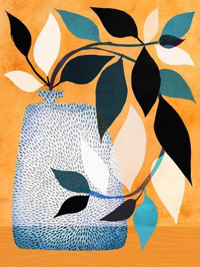 Ivy In The Courtyard-Modern Tropical-Art Print
