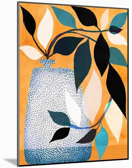 Ivy In The Courtyard-Modern Tropical-Mounted Art Print