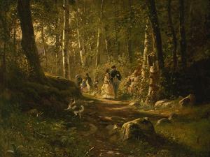 A Walk Through the Forest by Iwan Iwanowitsch Schischkin