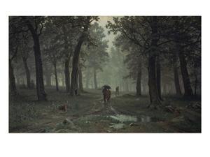 Regen Im Eichenwald, 1891 by Iwan Iwanowitsch Schischkin