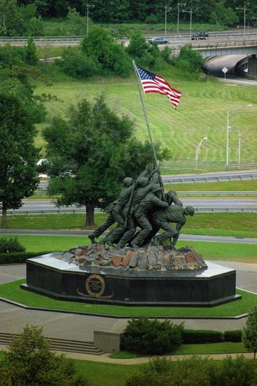Iwo Jima Memorial in Washington Dc on Flag Day--Photographic Print
