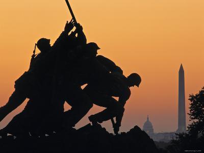 Iwo Jima Memorial, Washington D.C. Usa-Walter Bibikow-Photographic Print