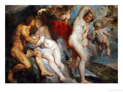 Ixion, King of the Lapiths, Deceived by Juno-Peter Paul Rubens-Giclee Print