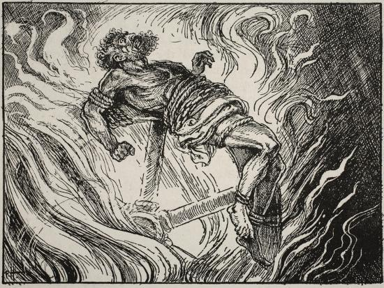 Ixion on the Wheel, from 'The Book of Myths' by Amy Cruse, 1925--Giclee Print