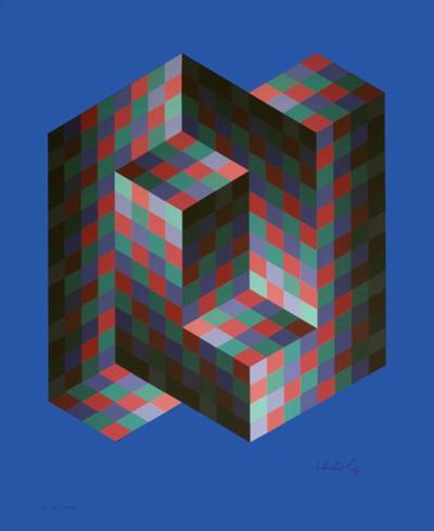 Iz-Zo 2-Victor Vasarely-Limited Edition