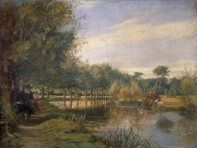 Izaak Walton Fishing, 1850-EM Ward-Giclee Print