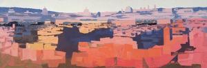 Rome, View from the Spanish Academy on the Gianicolo, Sunset, 1968 by Izabella Godlewska de Aranda