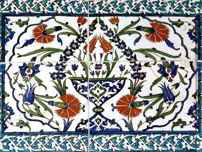 Iznik Tiles Detail at Hunkar Kasri-Izzet Keribar-Photographic Print
