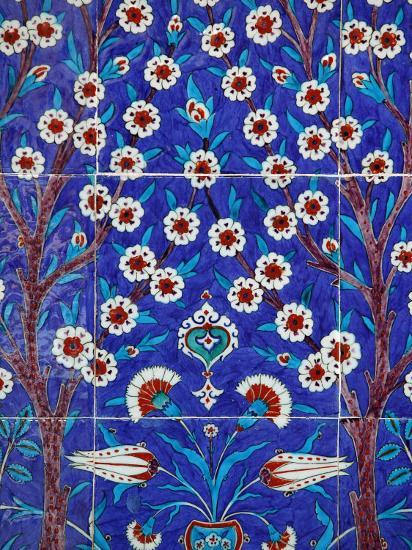 Iznik Tiles in Topkapi Palace, Istanbul, Turkey, Europe-Godong-Photographic Print