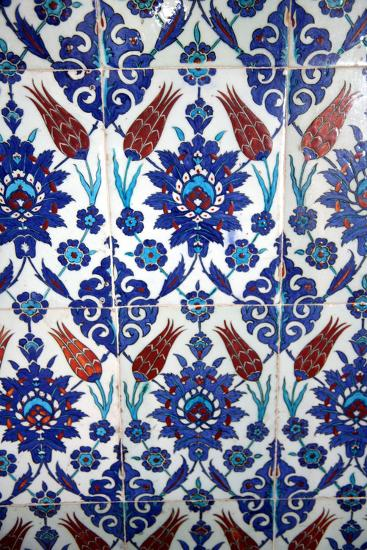 Iznik Tiles, Rustem Pasha Mosque, Istanbul, Turkey--Photographic Print