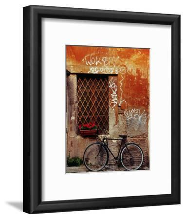 Bicycle Against Wall at Trastavere, Rome, Lazio, Italy