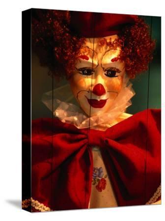Clown-Faced Marionette in a Shop, Athens, Attica, Greece