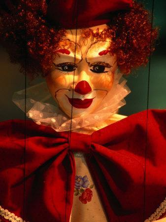 Clown-Faced Marionette in a Shop, Athens, Attica, Greece