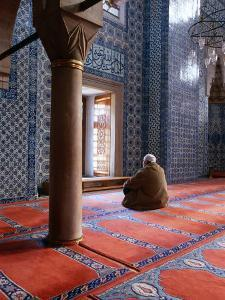 Inside Rustem Pasa Camii Mosque, Turkey by Izzet Keribar