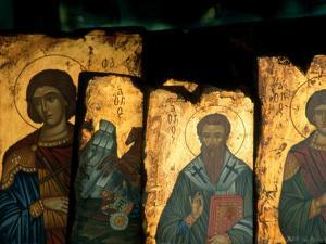 Religious Icons for Sale in Shop, Ermou, Athens, Greece by Izzet Keribar