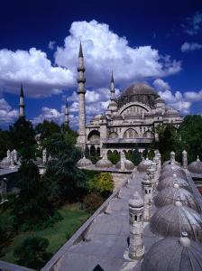 Roof of Suleymaniye Mosque, Istanbul, Turkey by Izzet Keribar