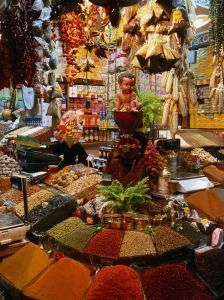 Spice Stall at Misir Carsisi in Eminonu, Istanbul, Turkey by Izzet Keribar