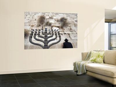 The Wailing Wall and Hanuka Chandelier by Izzet Keribar