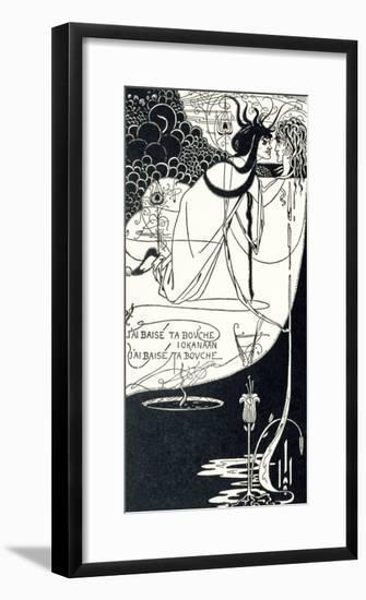 "J""Ai Baise Ta Bouche, Jokanaan, Illustration from ""Salome"" by Oscar Wilde, Pub. 1894-Aubrey Beardsley-Framed Premium Giclee Print"