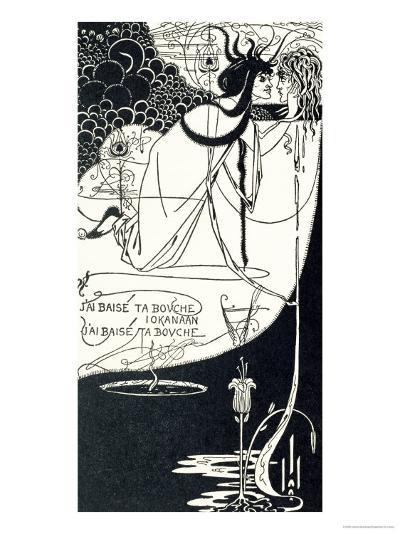 "J""Ai Baise Ta Bouche, Jokanaan, Illustration from ""Salome"" by Oscar Wilde, Pub. 1894-Aubrey Beardsley-Giclee Print"