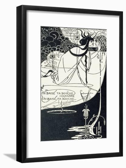"J""Ai Baise Ta Bouche, Jokanaan, Illustration from ""Salome"" by Oscar Wilde, Pub. 1894-Aubrey Beardsley-Framed Giclee Print"