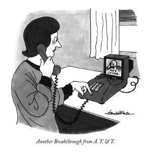 Another Breakthrough from  A. T. & T. - New Yorker Cartoon by J.B. Handelsman