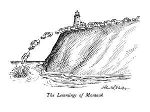 The Lemmings of Montauk - New Yorker Cartoon by J.B. Handelsman
