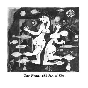 Two Picassos with Feet of Klee - New Yorker Cartoon by J.B. Handelsman