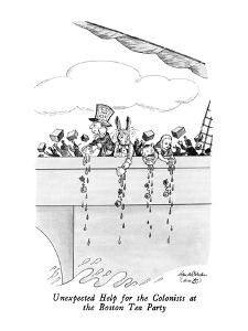 Unexpected Help for the Colonists at the Boston Tea Party - New Yorker Cartoon by J.B. Handelsman