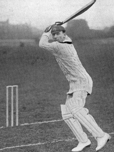 J.B. Hobbs Batting, 1924--Photographic Print