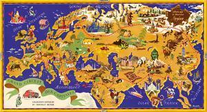 Around the World Map - Chocolat Menier - French Chocolate Company by J^B^ Jannot
