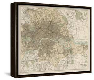Map of London and Its Suburbs by J^ Bartholomew