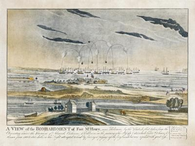 A View of the Bombardment of Fort Mchenry Near Baltimore by J. Bower