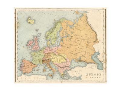 Map, Europe C1840