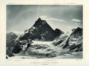The Matterhorn from the Col D'Herens, Switzerland, C1900 by J Brunner