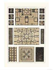 Painted Ceilings and Pavements from Pompeii by J. Buhlmann