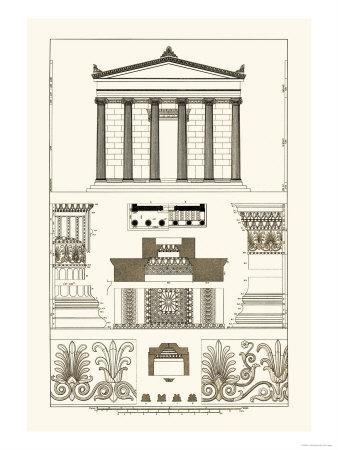 Portico, Coffer and Palmette-Ornament