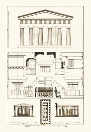 Temple of Poseidon at Paestum by J^ Buhlmann
